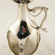 Carafa alama cu sticla, argintie