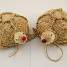 Ornamente lemn, papura urs, testoasa - Ornamente Craciun