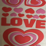 Sticker decorativ 3D.model Love