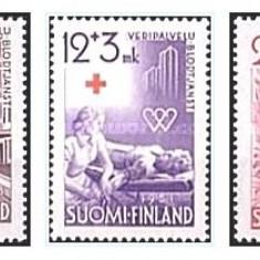 Finlanda 1951 - crucea rosie, serie neuzata