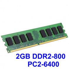 2GB DDR2-800 PC2-6400 800MHz, Memorie Desktop PC DDR2, Testata cu Memtest86+ - Memorie RAM