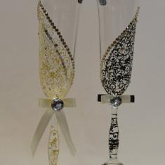Pahare cristal Bohemia pictate. model 9