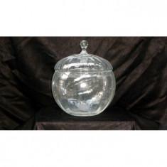 Bomboniera optica cu capac - Fructiera sticla