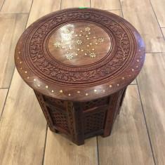 Masa lemn rosu octogonala - Masa biliard