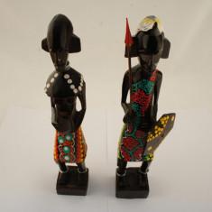 Set 2 statuete razboinici 25cm - Figurina/statueta