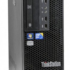 Lenovo ThinkStation C20 2 x Intel Xeon E5620 2.40 GHz 12 GB DDR 3 500 GB HDD DVD-RW 1 GB Quadro K600 Tower Windows 10 Pro - Sisteme desktop fara monitor