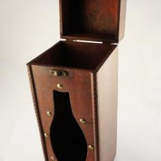 Cutie 1 sticla lemn / harta mare