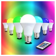 Bec LED 5W RGB cu Telecomanda Glob Mat Soclu E27, Becuri LED