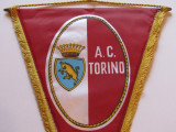 Fanion fotbal (dimensiuni mari 37x27 cm) - AC TORINO (Italia)
