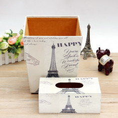 Set cos si cutie servetele Paris - Cos baschet