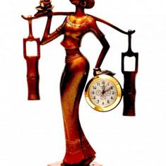 Statuie cu ceas Balanta - Ceas de semineu
