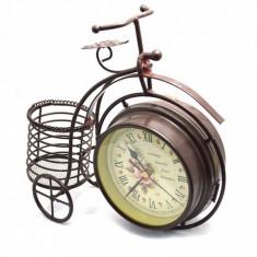 Ceas Vintage-Bicicleta cu suport pixuri