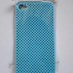 Husa iPhone 4 4s perforata albastra noua - Bumper Telefon, Albastru