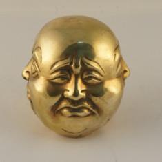 Cap Budha 4 fete bronz mare