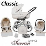 Carucior Clasic Turran Silver ECO - Grupa 0+ (3 in 1) - Carucior copii 3 in 1