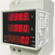 Aparat De Masura, Pe Sina - Voltmetru/Ampermetru/Wattmetru/78110 - Multimetre