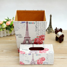 Set cos si cutie servetele Paris Vintage - Cos baschet