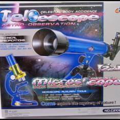 Set telescop si microscop de jucarie pentru copii - Jocuri Stiinte