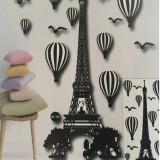 Sticker decorativ 5D, model Turnul Eifel 1