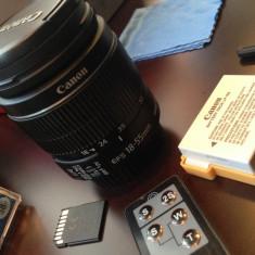 Aparat foto Canon EOS 600D DSLR Obiectiv stabilizare Full Kit ca nou Filmare HD