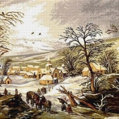 Goblen Peisaj de iarnă
