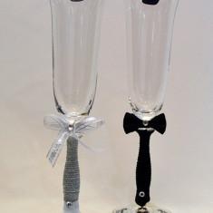 Pahare cristal Bohemia pictate. model 23