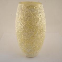 Vaza ovala margele alba - Vaza si suport flori