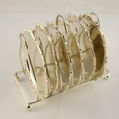 Suport 6 farfurioare nichelat - Argint