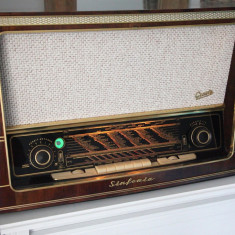 Radio lampi Graetz Sinfonia 4R/221, complet restaurat - Aparat radio