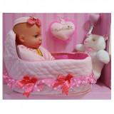 Papusa Bebe cu Patut Cod 60668