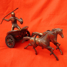 Statueta bronz antik car de lupta cu ACHILE - sculptura reproducere, Scene lupta