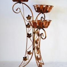 Suport pentru flori triplu evantai