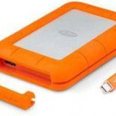 SSD extern Lacie, 500GB, Rugged, USB3.0, Thunderbolt, portocaliu - HDD extern