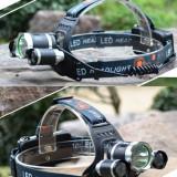 Lanterna Boruit 3 Led uri CREE 1 T6 XM-L 2 R5 6000 lm