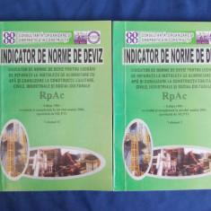 INDICATOR NORME DE DEVIZ PENTRU LUCRARI DE REPARATII LA INSTALATII ( RpAc )-2001 - Carti Constructii