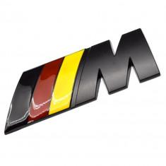 Stiker 4,5 cm L auto metal  pentru BMW M power sport adeziv profesional inclus