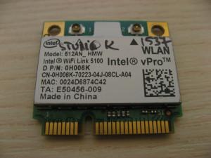 Placa de retea wireless Dell Studio 1537, Intel WiFi Link 5100, 512AN_HMW 0H006K