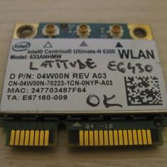 Placa wireless Dell Latitude E6430, Centrino Ultimate-N 6300, 633ANHMW, 04W00N