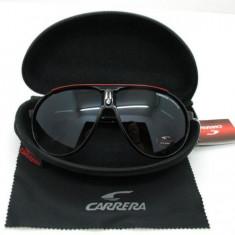 Ochelari Soare - CARRERA - Polarizati, UV400, Aviator Style - Negru + Rosu, Femei, Protectie UV 100%