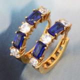 Cercei  filati cu aur de 9k , alb,  verde, albastru  domnisoare si doamne