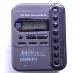 Rar Vechi Seiko Instruments VX-1 Radio FM AM Stereo Digital Ceas/Alarma,Portabil