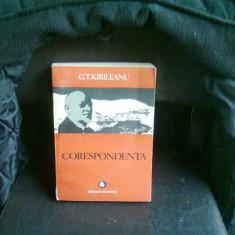 CORESPONDENTA - G.T. KIRILEANU - Biografie