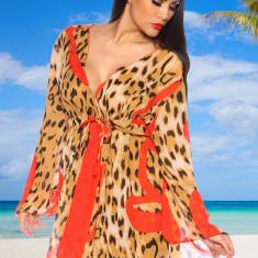 Tunika Leopard - Lenjerie sexy femei, Bej, L