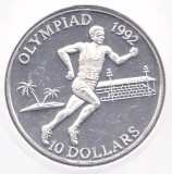 Moneda Insulele Solomon 10 Dolari 1991 - KM#48 PROOF (Ag 0,925 - J.O. Barcelona)