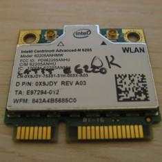 Placa wireless Dell Latitude E6220, Centrino Advanced-N 6205, 62205ANHMW, 0X9JDY