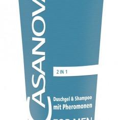 Gel de Dus & Sampon Feromoni Casanova 2 in1 200 ml
