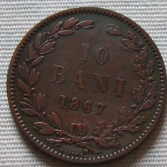 M. 10 bani 1867 Heaton - Moneda Romania