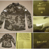 Bluza camuflaj vanator pescar vanatoare pescuit Nike Dri Fit alergare - Imbracaminte Vanatoare, Marime: L