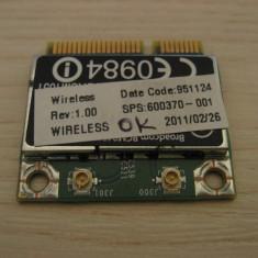 Placa de retea wireless HP 625, Broadcom BCM94313HMGB, 600370-001
