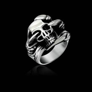 Inel Barbatesc Gothic / Punk Style - Otel Inoxidabil - Model Craniu